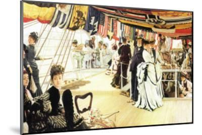 Ball On Board-James Tissot-Mounted Art Print