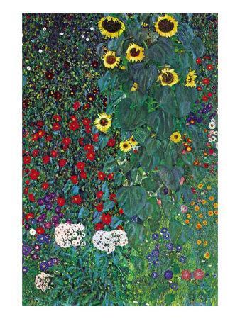 Garden-Gustav Klimt-Framed Art Print