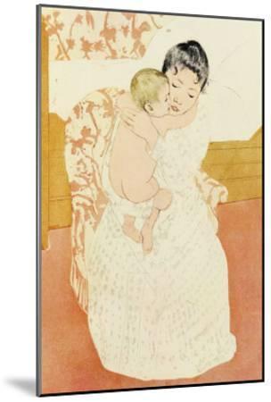 Motherly Tenderness-Mary Cassatt-Mounted Art Print