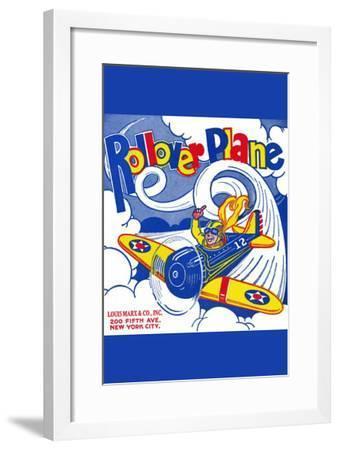Rollover Plane--Framed Art Print