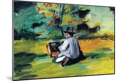 Painter At Work-Paul C?zanne-Mounted Premium Giclee Print
