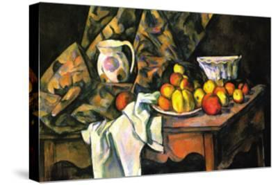Still Life with Apples and Peaches-Paul C?zanne-Stretched Canvas Print