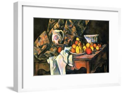 Still Life with Apples and Peaches-Paul C?zanne-Framed Art Print