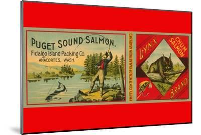 Puget Sound Salmon Can Label--Mounted Art Print