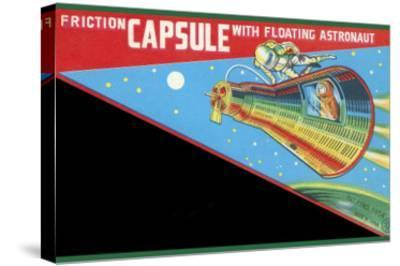 Friction Capsule with Floating Astronaut--Stretched Canvas Print
