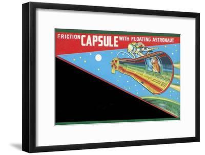 Friction Capsule with Floating Astronaut--Framed Art Print