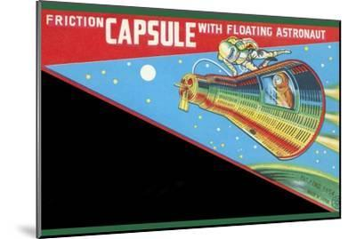 Friction Capsule with Floating Astronaut--Mounted Art Print