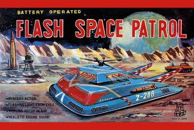 Flash Space Patrol--Stretched Canvas Print