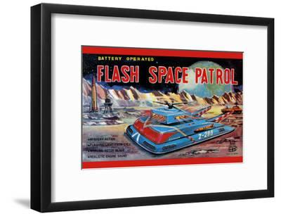 Flash Space Patrol--Framed Art Print