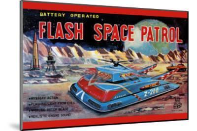 Flash Space Patrol--Mounted Art Print