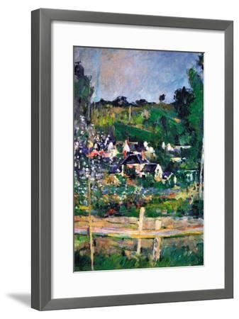 Village Behind The Fence-Paul C?zanne-Framed Art Print