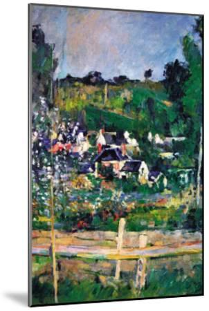 Village Behind The Fence-Paul C?zanne-Mounted Art Print