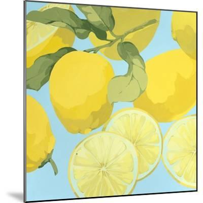 Fresh Lemons-Martha Negley-Mounted Premium Giclee Print
