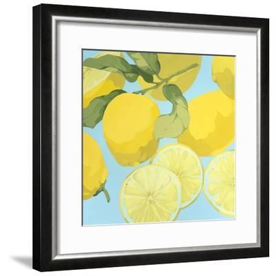 Fresh Lemons-Martha Negley-Framed Premium Giclee Print