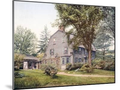 The Old Manse Concord Massachusetts--Mounted Giclee Print