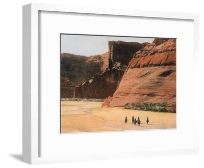 Navajo Horsemen in Canyon De Chelly Arizona--Framed Giclee Print