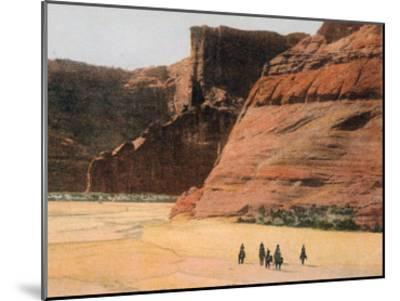 Navajo Horsemen in Canyon De Chelly Arizona--Mounted Giclee Print