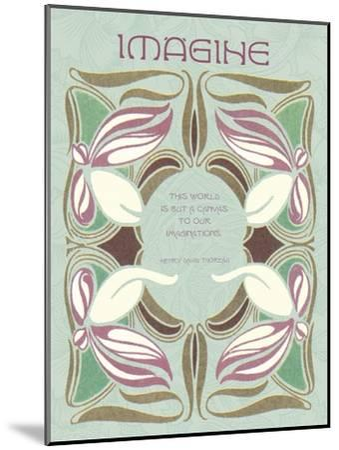 Imagine--Mounted Giclee Print