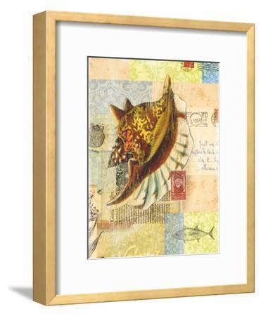Vintage Botanical Seashell Print-Bessie Pease Gutmann-Framed Giclee Print