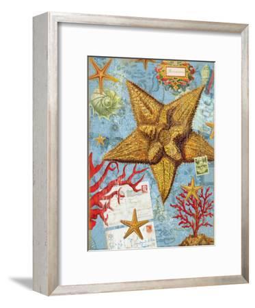 Vintage Botanical Starfish Print-Bessie Pease Gutmann-Framed Giclee Print