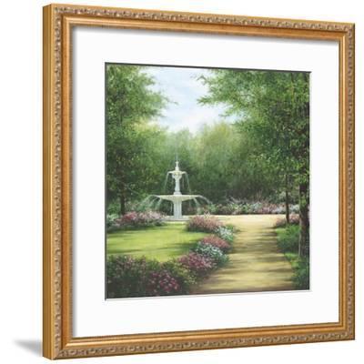 Park Fountain-Lene Alston Casey-Framed Art Print