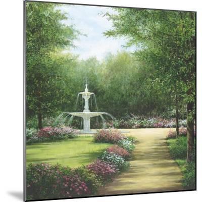 Park Fountain-Lene Alston Casey-Mounted Art Print