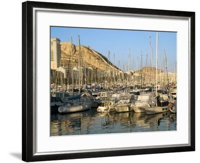 Harbour, Hotel Tryp Gran Sol, Alicante, Valencia Province, Spain-Guy Thouvenin-Framed Photographic Print