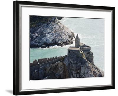 Clifftop Church, Porto Venere, Cinque Terre, UNESCO World Heritage Site, Liguria, Italy, Europe-Christian Kober-Framed Photographic Print