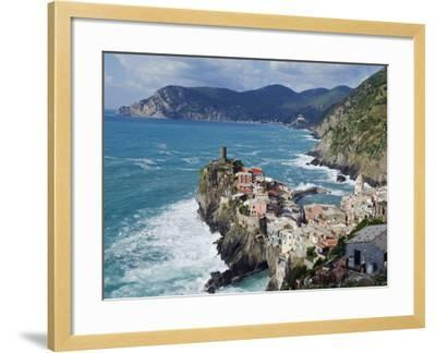 Clifftop Village of Vernazza, Cinque Terre, UNESCO World Heritage Site, Liguria, Italy, Europe-Christian Kober-Framed Photographic Print