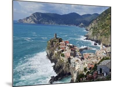 Clifftop Village of Vernazza, Cinque Terre, UNESCO World Heritage Site, Liguria, Italy, Europe-Christian Kober-Mounted Photographic Print