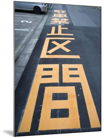 Giant Kanji Characters Telling Drivers This Is a No Parking Zone, Fukui City, Japan--Mounted Photographic Print