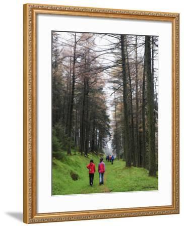 Hikers Walking in Brecon Beacons National Park, South Wales, Uninted Kingdom, Europe-Christian Kober-Framed Photographic Print