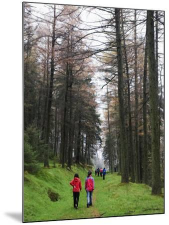 Hikers Walking in Brecon Beacons National Park, South Wales, Uninted Kingdom, Europe-Christian Kober-Mounted Photographic Print