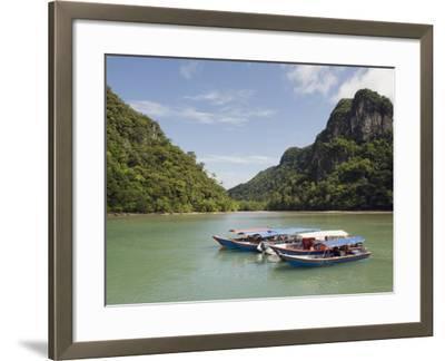 Colourful Boats, Langkawi Island, Kedah State, Malaysia, Southeast Asia, Asia-Christian Kober-Framed Photographic Print