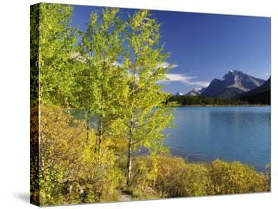 Waterfowl Lake, Banff National Park, UNESCO World Heritage Site, Rocky Mountains, Alberta, Canada, -Jochen Schlenker-Stretched Canvas Print