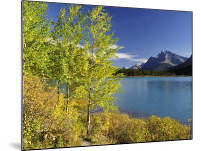 Waterfowl Lake, Banff National Park, UNESCO World Heritage Site, Rocky Mountains, Alberta, Canada, -Jochen Schlenker-Mounted Photographic Print