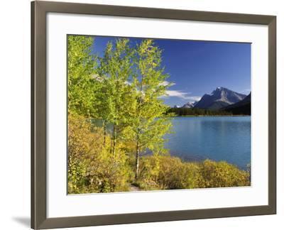 Waterfowl Lake, Banff National Park, UNESCO World Heritage Site, Rocky Mountains, Alberta, Canada, -Jochen Schlenker-Framed Photographic Print