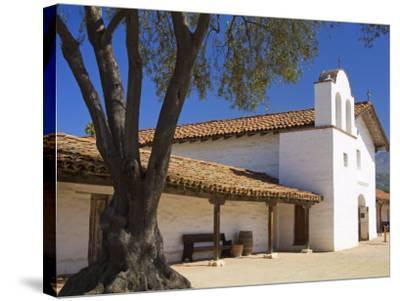 Church, El Presidio De Santa Barbara State Historic Park, Santa Barbara, California, United States -Richard Cummins-Stretched Canvas Print