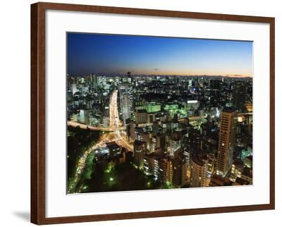 City Skyline View from Tokyo Tower, Tokyo, Japan, Asia-Christian Kober-Framed Photographic Print
