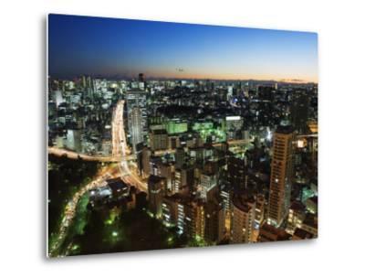 City Skyline View from Tokyo Tower, Tokyo, Japan, Asia-Christian Kober-Metal Print