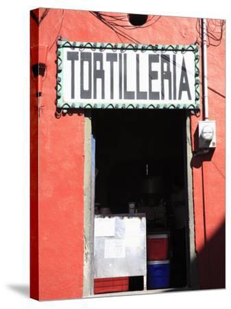 Tortilleria (Tortilla Shop), Guanajuato, Guanajuato State, Mexico, North America-Wendy Connett-Stretched Canvas Print