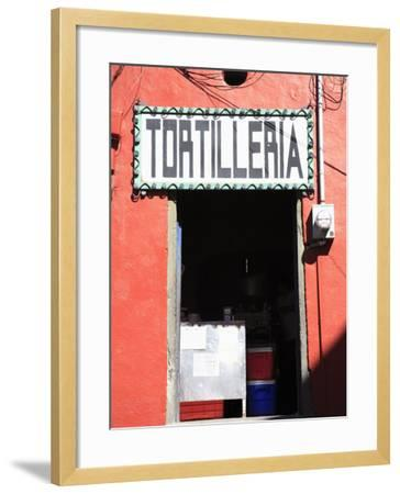 Tortilleria (Tortilla Shop), Guanajuato, Guanajuato State, Mexico, North America-Wendy Connett-Framed Photographic Print