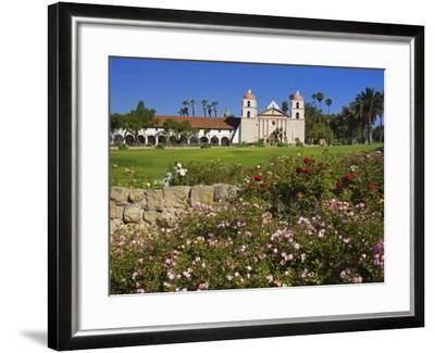 Old Mission Santa Barbara, Santa Barbara, California, United States of America, North America-Richard Cummins-Framed Photographic Print