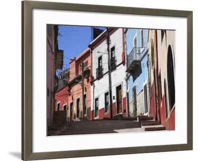 Narrow Street, Guanajuato, Guanajuato State, Mexico, North America-Wendy Connett-Framed Photographic Print