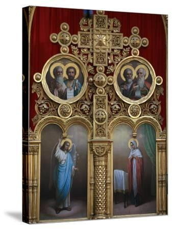 Iconostasis in Aghios Andreas Monastery Church on Mount Athos, Greece, Europe-Godong-Stretched Canvas Print
