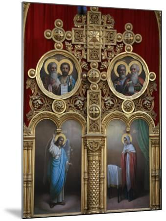 Iconostasis in Aghios Andreas Monastery Church on Mount Athos, Greece, Europe-Godong-Mounted Photographic Print