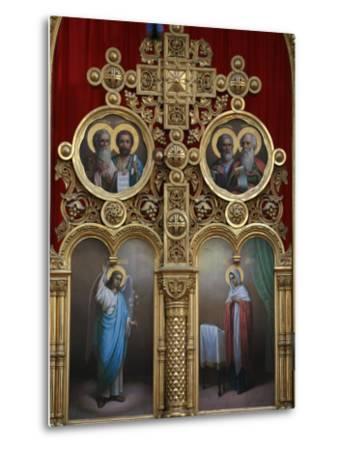 Iconostasis in Aghios Andreas Monastery Church on Mount Athos, Greece, Europe-Godong-Metal Print