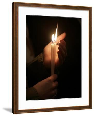 Christian Orthodox Easter Week Celebration, Saint Stephane Greek Orthodox Cathedral, Paris, France-Godong-Framed Photographic Print
