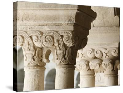 Capitals in Cloister of Notre-Dame De Senanque Abbey, Gordes, Vaucluse, Provence, France-Godong-Stretched Canvas Print