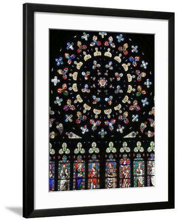 Rose Window in Notre-Dame-Des-Carmes Church, Pont-L'Abbe, Pont-L'Abbe, Finistere, France, Europe-Godong-Framed Photographic Print